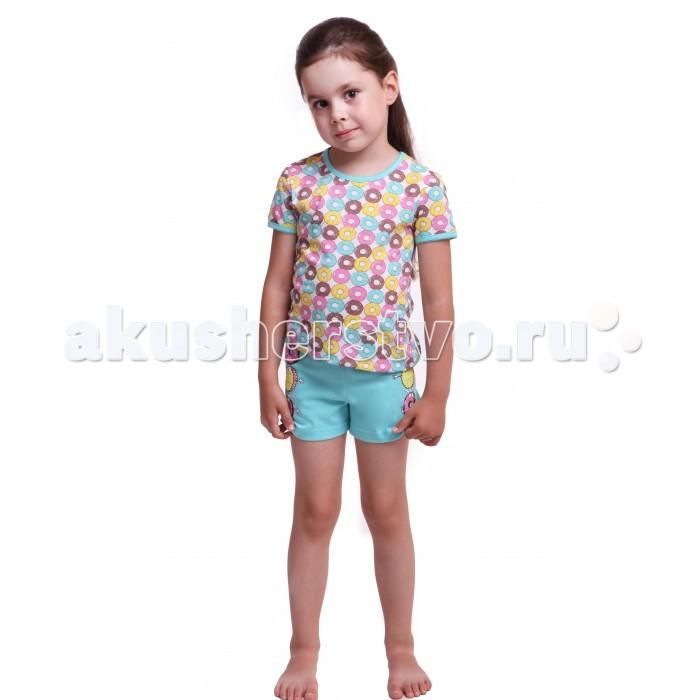 Пижамы и ночные сорочки Свiтанак Пижама для девочки Р208646 футболка с украшением по вороту