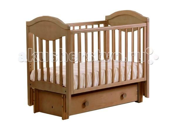 Детские кроватки Кубаньлесстрой АБ 23.3 Камелия маятник продольный с ящиком