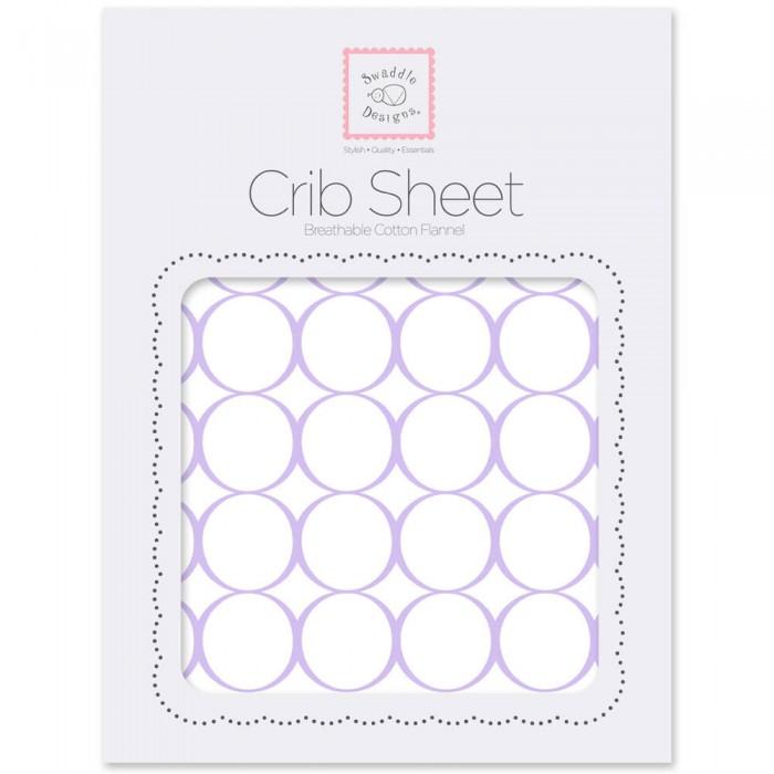 Простыни SwaddleDesigns Простынь на резинке Fitted Crib Sheet Circles 132х70х20 sweet jojo designs elizabeth fitted crib sheet