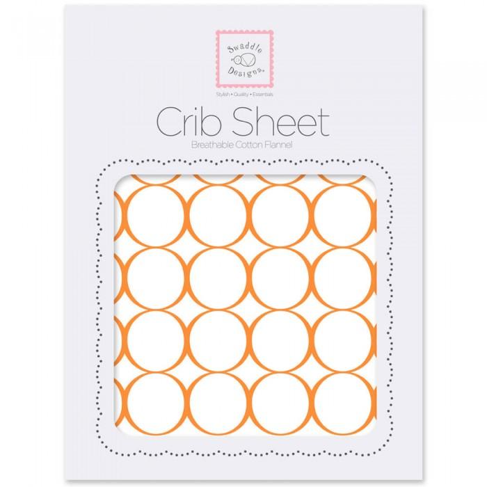 Простыни SwaddleDesigns Простынь на резинке Fitted Crib Sheet Circles 132х70х20