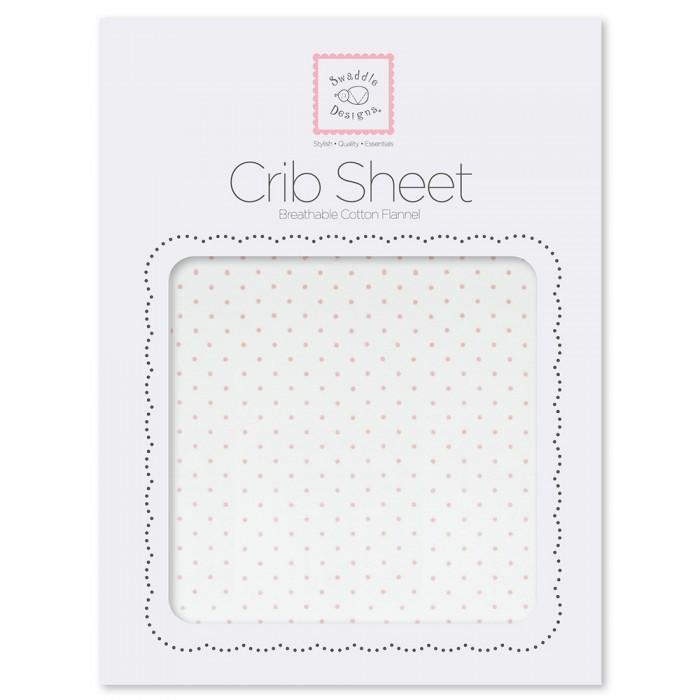 SwaddleDesigns Простынь детская на резинке Fitted Crib Sheet 132х71х20 фото