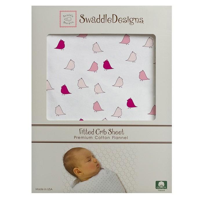 Простыни SwaddleDesigns Простынь детская на резинке Fitted Crib Sheet 132х71х20