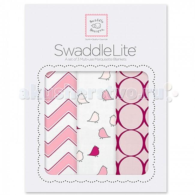 Пеленка SwaddleDesigns SwaddleLite Chic комплект 3 шт.SwaddleLite Chic комплект 3 шт.Комплект пеленок SwaddleDesigns SwaddleLite Chic Chevron Lite для новорожденного в красивой фирменной упаковке, состоит из трех легких пеленок серии Marquisette SwaddlingBlanket.  Особенности: Легкие, дышащие из мягкого хлопка маркизет. Эти волшебные пеленки действительно помогают новорожденным спать сном младенца. Замечательный вариант для теплого времени года и дома. Легко следовать инструкции пеленания пришитой к пеленке. Оптимальный, большой размер пеленки 120х120 сантиметров! Ваш ребенок не вырастет быстро из пеленки. Многофункциональные и универсальные. Используйте для пеленания, как легкое одеяло, солнечный козырек, накидку для кормления грудью, при болях в животике. Эту пеленку вы будете использовать на протяжении нескольких лет и не пожалеете о покупке. Дизайн разработан медсестрой Линетт Дамир. Победитель множества наград. Лауреат премии Великий дар (Award Winner Great Gift). Рекомендованы педиатрами и мамами во всем мире. Состав 100% хлопок маркизет, высшего качества<br>