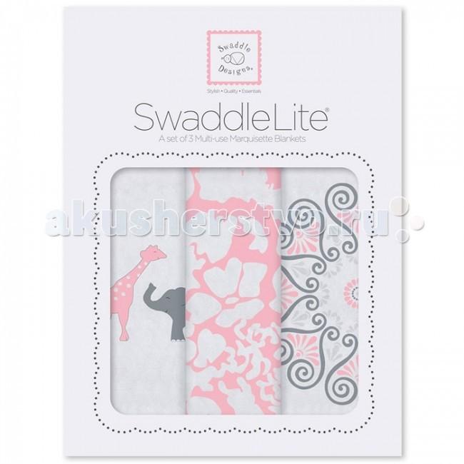 Пеленка SwaddleDesigns SwaddleLite Lush комплект 3 шт.SwaddleLite Lush комплект 3 шт.Комплект пеленок SwaddleDesigns SwaddleLite Lush для новорожденного в красивой фирменной упаковке, состоит из трех легких пеленок серии Marquisette SwaddlingBlanket.  Особенности: Легкие, дышащие из мягкого хлопка маркизет. Эти волшебные пеленки действительно помогают новорожденным спать сном младенца. Замечательный вариант для теплого времени года и дома. Легко следовать инструкции пеленания пришитой к пеленке. Оптимальный, большой размер пеленки 120х120 сантиметров! Ваш ребенок не вырастет быстро из пеленки. Многофункциональные и универсальные. Используйте для пеленания, как легкое одеяло, солнечный козырек, накидку для кормления грудью, при болях в животике. Эту пеленку вы будете использовать на протяжении нескольких лет и не пожалеете о покупке. Дизайн разработан медсестрой Линетт Дамир. Победитель множества наград. Лауреат премии Великий дар (Award Winner Great Gift). Рекомендованы педиатрами и мамами во всем мире. Состав 100% хлопок маркизет, высшего качества<br>