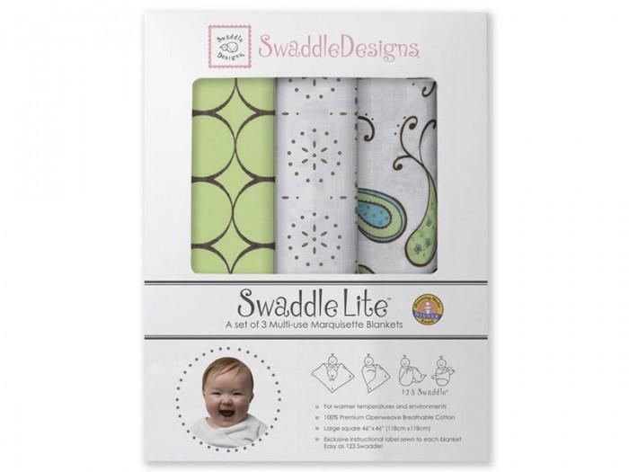 Пеленки SwaddleDesigns SwaddleLite Modern комплект 3 шт. набор пеленок swaddledesigns swaddle duo pstl pink modern