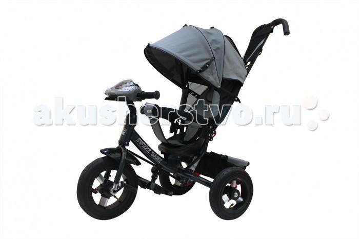 Велосипед трехколесный Sweet Baby Mega Lexus Trike Air Music bar 10/12Mega Lexus Trike Air Music bar 10/12Велосипед трехколесный Sweet Baby Mega Lexus Trike Air Music bar 10/12 обязательно понравится вашему малышу. Он предназначен для деток с максимальным весом до 25 кг. Сначала родителя могут управлять велосипедом, а когда ребенок немного подрастет, он сможет управлять им самостоятельно.   Особенности: Складной капюшон колясочного типа Материал: Oxford 600D Трехточечная система безопасности Удобное эргономичное сиденье из пластика с высокой спинкой и мягким тканевым чехлом 3 положения спинки Раздвижной бампер с мягкими подлокотниками Разделитель для ножек Подножка складывается и снимается Звуковая панель на руле Металлическая рама Родительская ручка для управления велосипедом имеет 3 уровня высоты Передние педали фиксируются, и колесо вращается независимо от педалей Резиновые подкачиваемые колеса Материал диска колеса: алюминий Диаметр переднего колеса - 30 см (12) Диаметр задних колес - 25 см (10) Крыло над передним колесом Тормоз задних колес Звонок на руле Большая багажная сетчатая корзина.<br>