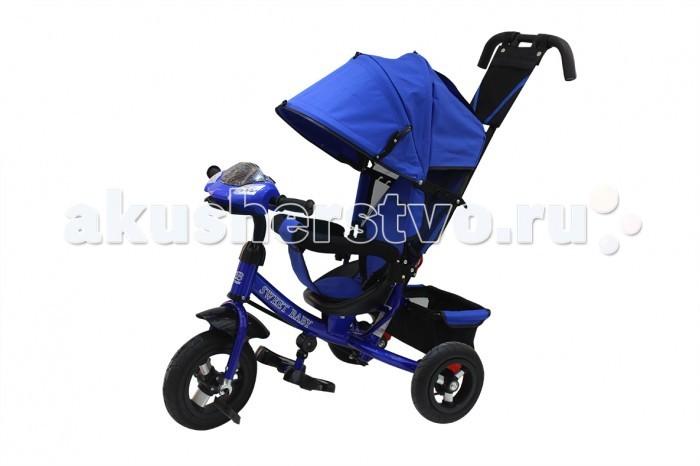Велосипед трехколесный Sweet Baby Mega Lexus Trike Air Music bar 8/10Трехколесные велосипеды<br>Велосипед трехколесный Sweet Baby Mega Lexus Trike Air Music bar 8/10 обязательно понравится вашему малышу. Он предназначен для деток с максимальным весом до 25 кг. Сначала родителя могут управлять велосипедом, а когда ребенок немного подрастет, он сможет управлять им самостоятельно.   Особенности: Складной капюшон колясочного типа Материал: Oxford 600D Трехточечная система безопасности Удобное эргономичное сиденье из пластика с высокой спинкой и мягким тканевым чехлом 3 положения спинки Раздвижной бампер с мягкими подлокотниками Разделитель для ножек Подножка складывается и снимается Звуковая панель на руле Металлическая рама Родительская ручка для управления велосипедом имеет 3 уровня высоты Передние педали фиксируются, и колесо вращается независимо от педалей Резиновые подкачиваемые колеса Материал диска колеса: алюминий Диаметр переднего колеса - 25 см (10) Диаметр задних колес - 20 см (8) Крыло над передним колесом Тормоз задних колес Звонок на руле Большая багажная сетчатая корзина.