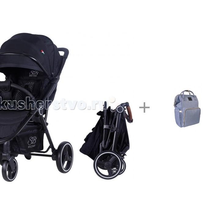 Прогулочные коляски Sweet Baby Suburban Compatto с рюкзаком для мамы Yrban MB-104 в голубой расцветке прогулочная коляска sweet baby suburban compatto black