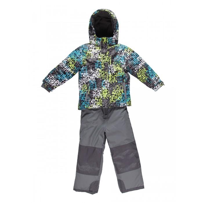 Sweet Berry Комплект для мальчика (куртка и полукомбинезон) 833096Зимние комбинезоны и комплекты<br>Sweet Berry Комплект для мальчика (куртка и полукомбинезон) 833096 Комфортный и теплый костюм из мембранной ткани.   В конструкции учтены физиологические особенности малыша. Съемный капюшон на молниях с дополнительной утяжкой, спереди установлены две кнопки.    Рукава с манжетами, регулируются липучкой. На куртке два кармана, застегивающиеся на молнию. Застежка-молния с внешней ветрозащитной планкой. Брюки на регулируемых подтяжках гарантируют посадку по фигуре.    Колени, задняя поверхность бедер и низ брюк дополнительно усилены сверхпрочным материалом. Силиконовые отстегивающиеся штрипки на брючинах.   Ткань верха: мембрана 10000мм/5000г/м2/24h, waterproof, водонепроницаемая с грязеотталкивающей пропиткой.   На флисовой подкладке, синтетический утеплитель 220 г/м#178; (куртка), 180 г/м#178; (рукава, п/комбинезон).   Температурный режим: от -35 до +5 С  куртка: 100% полиэстер  брюки: 100% нейлон   подкладка: 100% полиэстер  утеплитель: 100% полиэстер