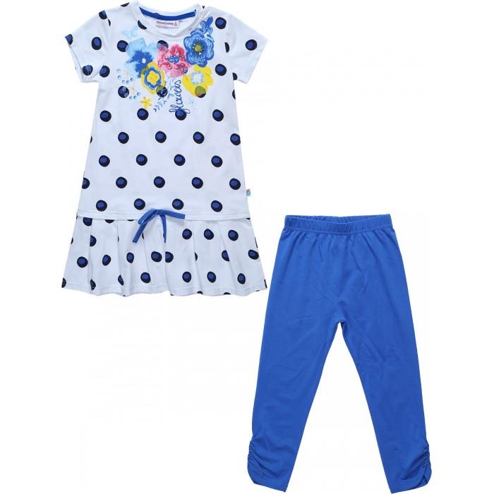 Комплекты детской одежды Sweet Berry Комплект трикотажный для девочек (платье и лосины) Яркая мечта