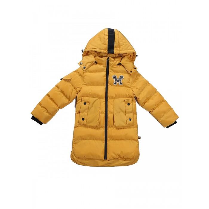 Sweet Berry Куртка для девочки 834070Куртки, пальто, пуховики<br>Sweet Berry Куртка для девочки 834070 Утепленная, стеганая куртка на тонкой меховой подкладке с капюшоном.   Капюшон на кнопках, регулируется утягивающей резинкой, декорирован тесьмой. Капюшон отстегивается( на молнии). На рукавах манжеты из эластичного трикотажа. Спереди боковые накладные карманы на кнопках. На груди вышитая нашивка из бисера и страз, по низу изделия по бокам небольшие разрезы. Основная молния металлическая водонепроницаемая.  Состав: Полиэстер 100%