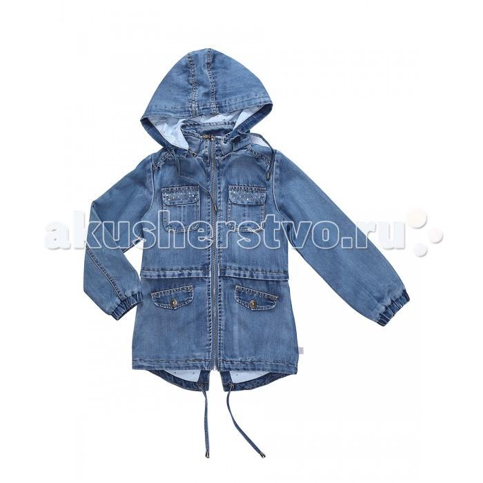 Куртки, пальто, пуховики Sweet Berry Куртка джинсовая для девочек Сладкое настроение, Куртки, пальто, пуховики - артикул:524011