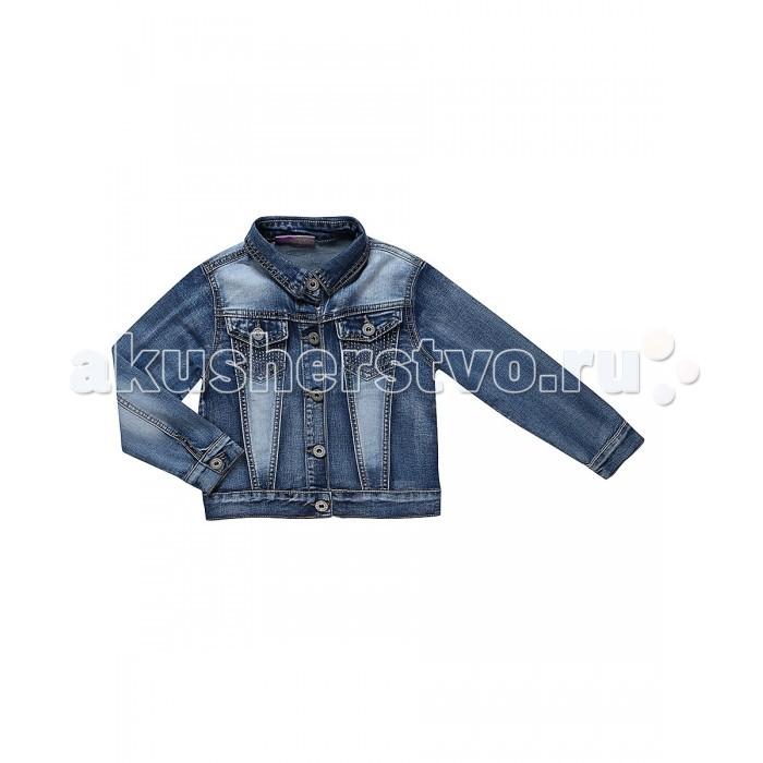 Ветровки, плащи, дождевики и жилеты Sweet Berry Куртка джинсовая для девочки Морское путешествие 814031, Ветровки, плащи, дождевики и жилеты - артикул:524731