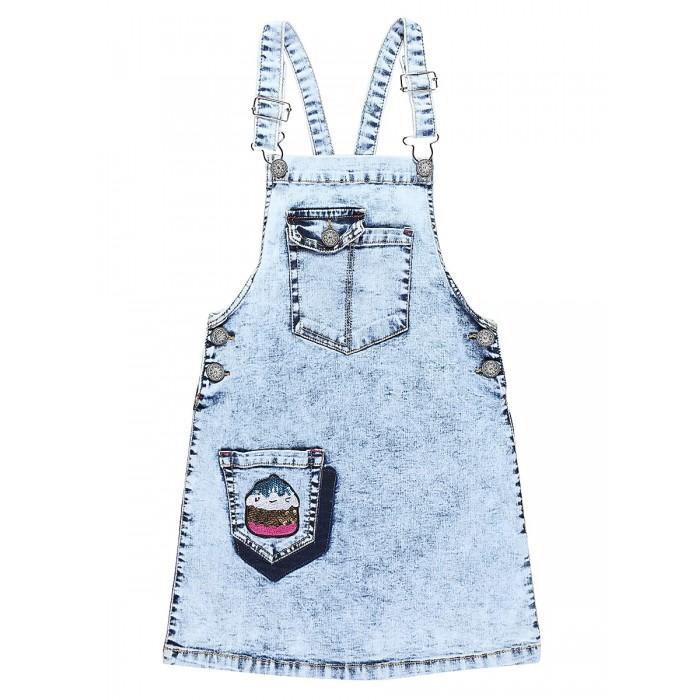 Детские платья и сарафаны Sweet Berry Сарафан джинсовый для девочек Сладкое настроение 814007 платья для девочек