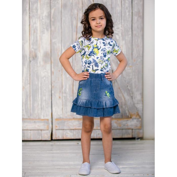 Sweet Berry Юбка джинсовая для девочки Вальс бабочек 914069