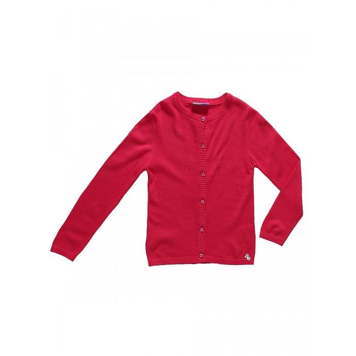Кофты и кардиганы Sweet Berry Жакет трикотажный для девочек Яркая мечта, Кофты и кардиганы - артикул:525611