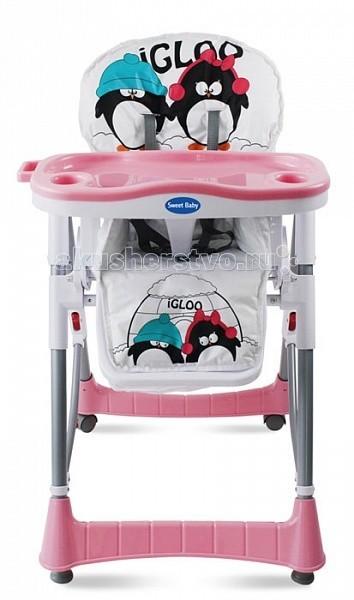 Стульчик для кормления Sweet Baby CoupleCoupleСтульчик для кормления Sweet Baby Couple имеет продуманную конструкцию, которая порадует родителей своим удобством и функциональностью.  Особенности: Подходит для деток от полугода и старше. Все элементы конструкции производятся из экологичных и безопасных материалов высокого качества. Сидение просторное и удобное, может легко мыться. Для надежной фиксации ребенка имеются регулируемые 5-точечные ремни безопасности. Стульчик снабжен съемным подносиком, который можно мыть в посудомоечной машине. Для удобства ребенка поднос можно зафиксировать в 3х разных положениях. Спинка стульчика тоже регулируемая. Сидение стула может быть зафиксировано на разной высоте, всего предусмотрено 5 различных положений. Подножка тоже регулируется. Для комфорта ребенка и родителей есть специальные фиксаторы для стаканов, которые не позволяют им опрокидываться в случае неуклюжих действий ребенка. Конструкция стула легко складывается и раскладывается, в сложенном виде он занимает очень мало места, легко может транспортироваться. Для всевозможных мелочей есть удобная корзина. Если вы забыли пристегнуть ребенка ремнями безопасности – не страшно, ведь есть еще специальная мягкая перемычка, которая пускается между ножек ребенка и не дает ему соскальзывать из стула.  Размер стула: 70х60х106 см Вес стула: 8.5 кг Вес в коробке: 9.6 кг Размер коробки: 47х29х70 см<br>