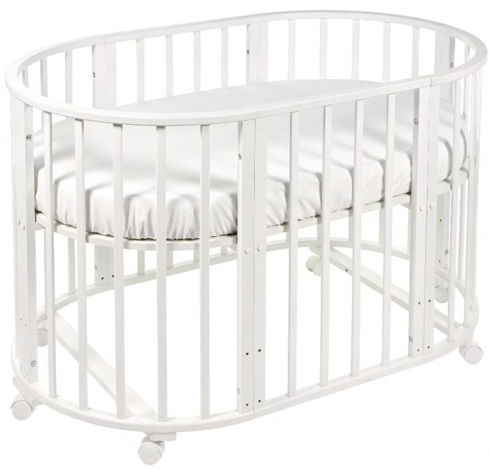 Кроватка-трансформер Sweet Baby Delizia без маятникаDelizia без маятникаSweet Baby Кроватка Delizia без маятника - это многофункциональная кроватка-трансформер, которая может использоваться по нескольким назначениям. Кроватка способна превращаться из люльки в кроватку, из кроватку в небольшой диванчик, из диванчика в стол с двумя креслами.  Варианты сборки: Круглая люлька (спальное место: диаметр 75см) Овальная детская кровать (спальное место: 125х75см) Овальный диван. Манеж круглый или овальный. Стул и столик.<br>