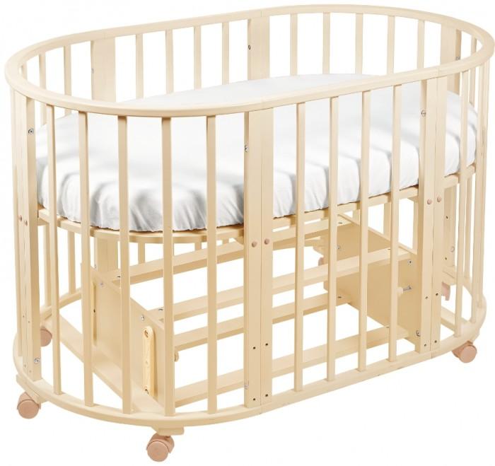 Кроватка-трансформер Sweet Baby Delizia с маятникомDelizia с маятникомSweet Baby Кроватка Delizia с маятником - это многофункциональная кроватка-трансформер, которая может использоваться по нескольким назначениям. Кроватка с маятником способна превращаться из люльки в кроватку, из кроватку в небольшой диванчик, из диванчика в стол с двумя креслами. Данная модель оснащена маятником поперечного качания.  Варианты сборки: Круглая люлька (спальное место: диаметр 75см) Овальная детская кровать (спальное место: 125х75см) Овальный диван. Манеж круглый или овальный. Стул и столик.<br>