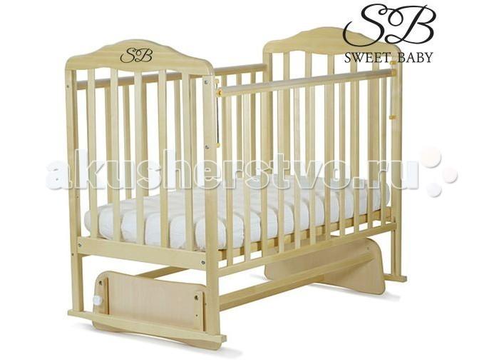 Детская кроватка Sweet Baby Luigi поперечный маятникLuigi поперечный маятникДетская кроватка Sweet Baby Luigi поперечный маятник сочетает в себе изысканный дизайн и надежность. Кроватка изготовлена из натуральной древесины бука, являющимся одним из лучших и безопасных материалов детской мебели. Для окраски кроватки применяются лаки, не содержащие вредные для здоровья ребенка вещества.  Массив березы является главной составляющей детской кровати Sweet Baby Luigi за счет свойств породы натурального дерева продлевается срок службы,отсутствуют вредные испарения и посторонние запахи,поэтому гарантирована гипоаллергенность и безопасность.  Кровать детская с глянцевой отделкой и закрытым механизмом опускания бокового ограждения. Модель с маятниковым механизмом поможет укачать малыша, а если такой необходимости нет, то маятник можно зафиксировать стопором. Поперечный маятник качания, два уровня ложа по высоте, опускаемая боковина, ПВХ-накладки на боковинах - все это делает кроватку функциональной и оригинальной.  Особенности: долговечная и безопасная модель с утолщенной спинкой маятниковый механизм поперечного качания позволяет комфортно и безопасно укачивать малыша опускающаяся боковая стенка, механизм опускания - кнопка маятниковый механизм легко демонтируется и кроватка прочно стоит на ножках ортопедическое ложе 2 уровня положения ложа по высоте хорошо вентилируемое реечное дно защитная ПВХ-накладка на верхней планке<br>