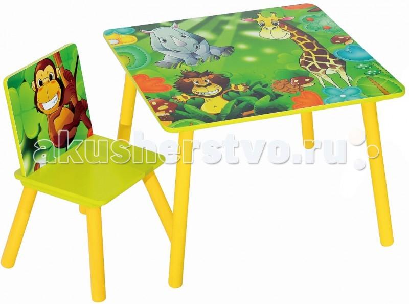Sweet Baby Набор детской мебели стол и стул UnoНабор детской мебели стол и стул UnoСтол и стульчик с яркой расцветкой от известного бренда Sweet Baby Uno станут отличным сетом, который создаст в комнате ребенка полноценную рабочую зону, которая может служить еще и зоной для обучения малыша в непринужденной игровой форме. Ведь тогда знания усваиваются значительно легче и быстрее.  Характеристики Sweet Baby Uno: Мебель подходит для детей возрастом до 3-4 лет Может использоваться для игр и обучения, и даже освоения столовых приборов ребенком Производится в соответствии с европейскими стандартами качества из экологичных и надежных материалов Имеет яркую и красочную расцветку Мебель очень устойчивая и надежная Мебель лишена неоправданных острых углов Трапециевидная конструкция ножек стульчика делает его очень устойчивым и надежным  Габариты стола (Д х Ш х В), см 60 x 60 x 44 Габариты стула (Д х Ш х В), см 26.5 х 26.5 х 50<br>