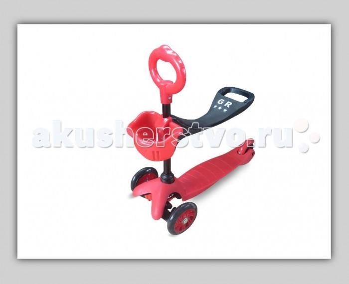 Трехколесный самокат Sweet Baby Triplex SeatTriplex SeatSweet Baby Трехколесный самокат Triplex Seat имеет регулируемую ручку и сиденье, которую при необходимости можно установить в любой момент. Triplex Seat «растет» вместе с Вашим ребенком. Самокат имеет полиуретановые колеса, что позволяет скрывать недостатки дорожного покрытия, а езду на нем сделать более комфортной. Управляется самокат простыми наклонами руля.  О-образная ручка с сиденьем подойдет для самых маленьких детей. Для тех, кто только учится ходить или еще не может долго ходить. Ручка оборудована корзиной, куда можно сложить любимые игрушки и взять с собой на прогулку.  Т-образная ручка для детей постарше. Ручка изготовлена из алюминия, а рукоятки сделаны из прорезиненного материала. Т-образная ручка может менять свое положение по высоте, что поможет легко подстроить самокат под рост ребенка.<br>