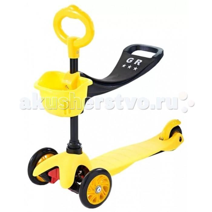 Трехколесный самокат Sweet Baby Triplex SeatTriplex SeatSweet Baby Трехколесный самокат Triplex Seat имеет регулируемую ручку и сиденье, которую при необходимости можно установить в любой момент. Triplex Seat «растет» вместе с Вашим ребенком. Самокат имеет полиуретановые колеса, что позволяет скрывать недостатки дорожного покрытия, а езду на нем сделать более комфортной. Управляется самокат простыми наклонами руля.  О-образная ручка с сиденьем подойдет для самых маленьких детей. Для тех, кто только учится ходить или еще не может долго ходить. Ручка оборудована корзиной, куда можно сложить любимые игрушки и взять с собой на прогулку.  Т-образная ручка для детей постарше. Ручка изготовлена из алюминия, а рукоятки сделаны из прорезиненного материала.<br>
