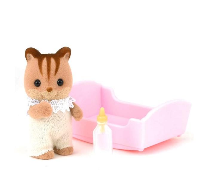 Игровые наборы Sylvanian Families Игровой набор Малыш Бельчонок sylvanian families набор малыш полосатый котёнок