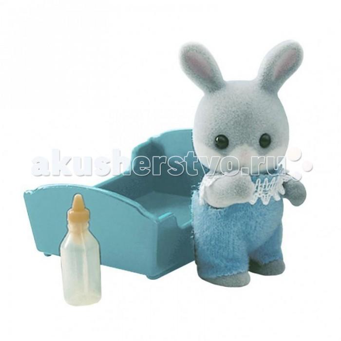 Игровые наборы Sylvanian Families Игровой набор Малыш Серый Кролик набор холодильник с продуктами sylvanian families