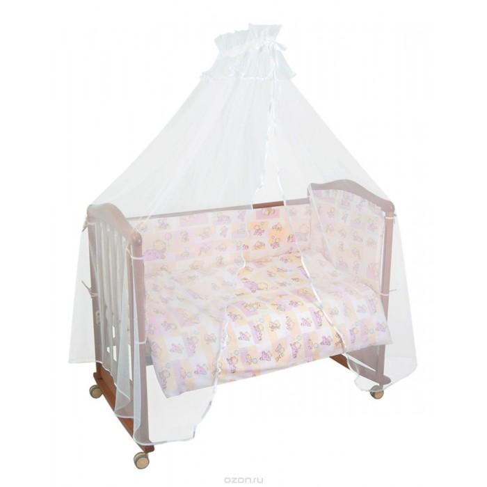 Бампер для кроватки Тайна Снов ТоптыжкиТоптыжкиБампер в кроватку защитит малыша, пока он маленький. И послужит отличным украшением детской кроватки.  бортик из 4х частей, высотой 38 см, по всему периметру кроватки (чехол съемный) состав ткани: нежная бязь из самой тонкой нити 100% хлопок безупречной выделки, ткань с авторским рисунком деликатные швы, рассчитанные на прикосновение к нежной коже ребёнка высокий бортик по всему периметру кроватки наполнитель бортика ХоллКон плотностью 500  Для кроватки размером 120х60 см<br>