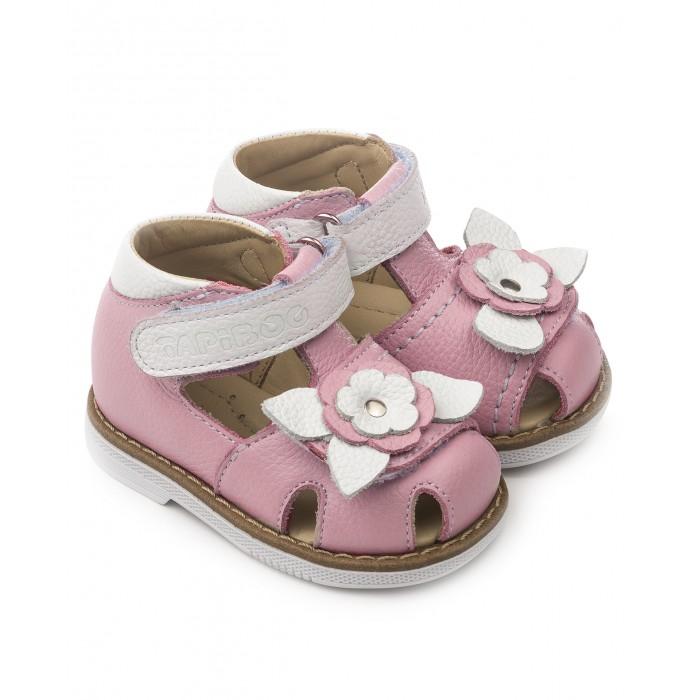 Купить Босоножки и сандалии, Tapiboo Сандалии кожаные детские Цветок 26021