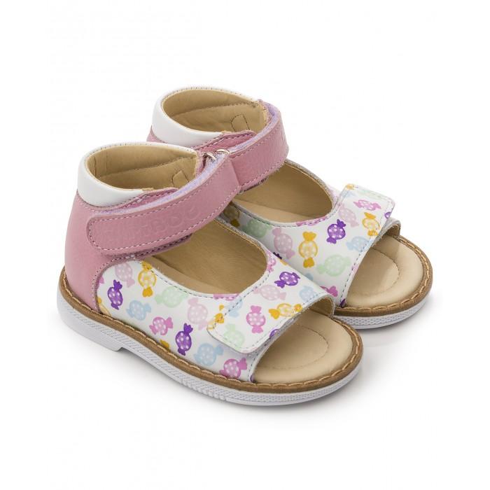 Купить Босоножки и сандалии, Tapiboo Сандалии кожаные детские Фиалка 26011