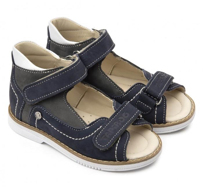 Босоножки и сандалии Tapiboo Сандалии кожаные детские Ирис 26025 сандалии для мальчика tapiboo ирис цвет синий ft 26022 19 ol08o 01 размер 31