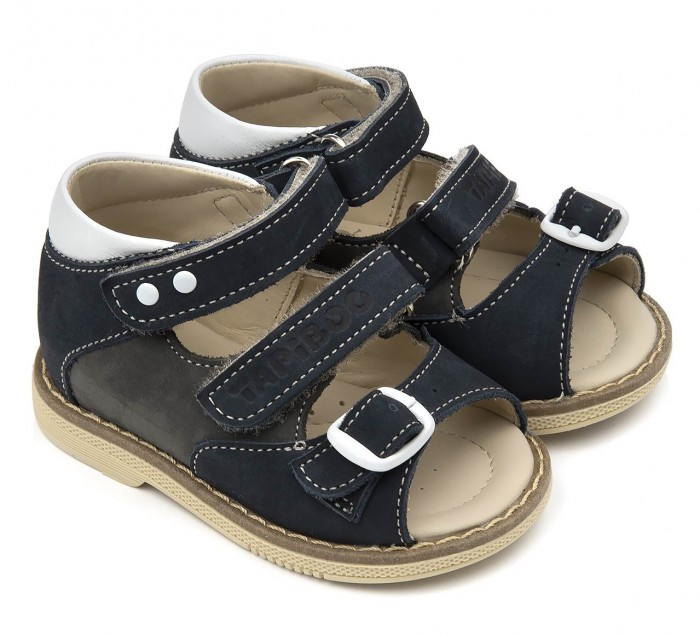 Босоножки и сандалии Tapiboo Сандалии кожаные детские Ирис 26035 сандалии для мальчика tapiboo ирис цвет синий ft 26022 19 ol08o 01 размер 31