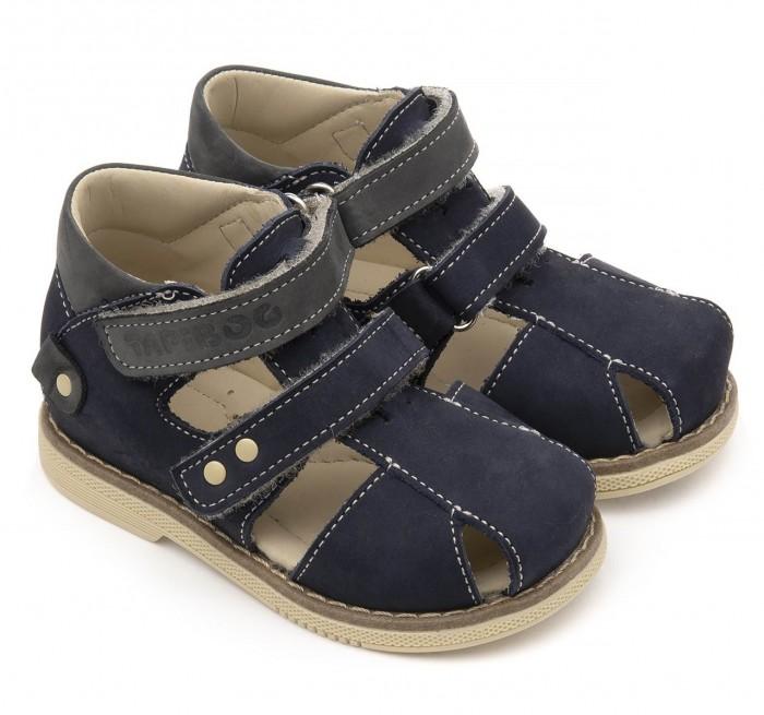 Босоножки и сандалии Tapiboo Сандалии кожаные детские Ирис 26038 сандалии для мальчика tapiboo ирис цвет синий ft 26022 19 ol08o 01 размер 31