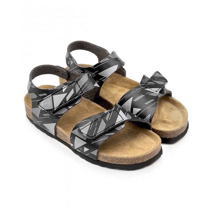 Купить Босоножки и сандалии, Tapiboo Сандалии кожаные детские Техно 96002
