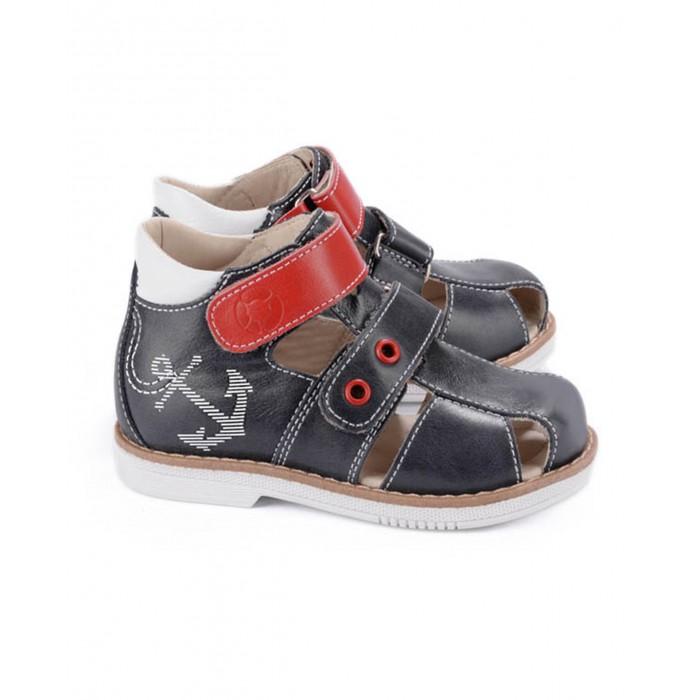 Купить со скидкой Tapiboo Сандалии кожаные детские Якорь 26004