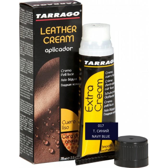 Аксессуары для обуви Tarrago Крем тюбик с губкой Leather cream 75 мл.