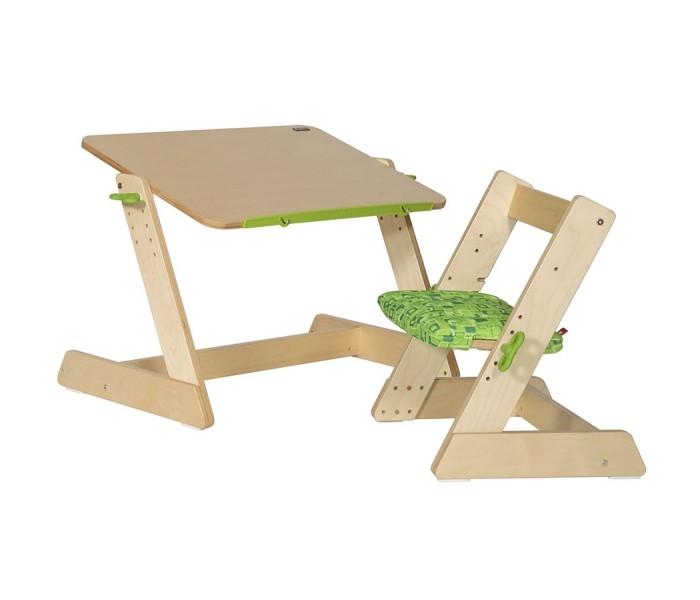 Столы и стулья TCT Nanotec Комплект из дерева Q-momo (парта, стул)