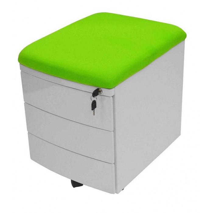 Комод TCT Nanotec Тумба-стул Драйвер TCT (3 ящика)Тумба-стул Драйвер TCT (3 ящика)Комод TCT Nanotec Тумба-стул Драйвер TCT (3 ящика) имеет три выдвижных ящика, которые закрываются на ключ. В верхнем ящике установлен пенал для канцелярских товаров. Тумбу также можно использовать как дополнительное место для сидения.  Тумба выпускается только в белом цвете.  Особенности: Эта тумба имеет три выдвижных ящика, которые закрываются на ключ. В верхнем ящике установлен пенал для канцелярских товаров. Тумбу также можно использовать как дополнительное место для сидения. Каркас тумбы выполнен в белом цвете. Три варианта расцветок ткани подушки: голубой, розовый и зеленый.<br>