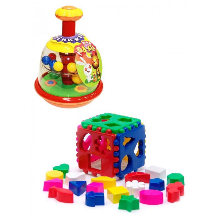 Купить Развивающие игрушки, Развивающая игрушка Тебе-Игрушка Юла Юлька + Игрушка Кубик логический большой
