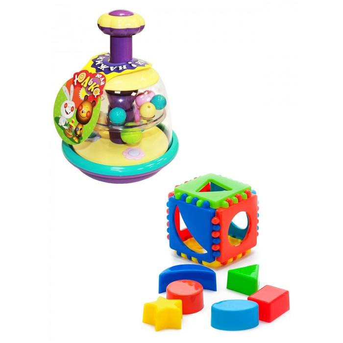 Купить Развивающие игрушки, Развивающая игрушка Тебе-Игрушка Юла Юлька + Игрушка Кубик логический малый