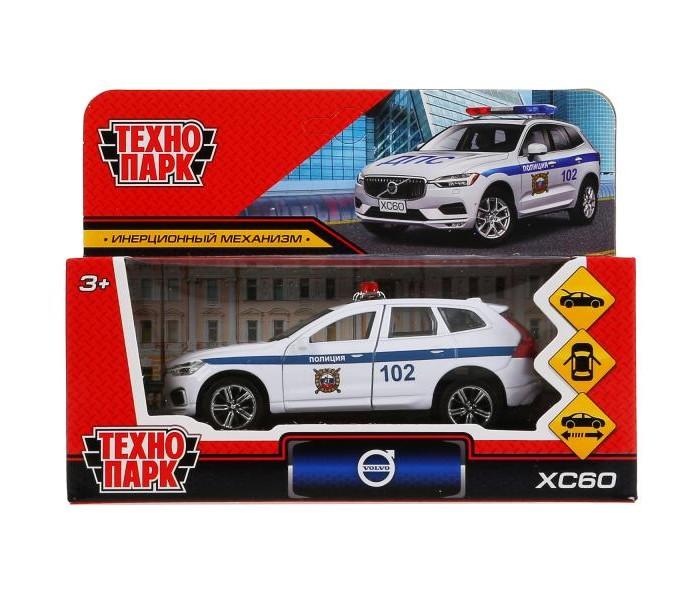 Машины Технопарк Инерционная машина Volvo XC60 R-Desing Полиция машины технопарк трек мини с катапультой и металлической машинкой s2785 r