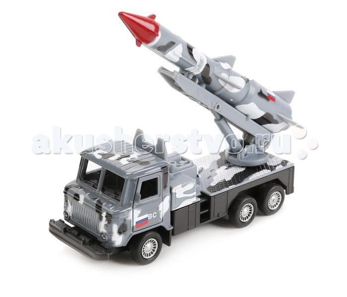 Машины Технопарк Машина ГАЗ 66 с ракетой машины технопарк машина газ 66 ракета