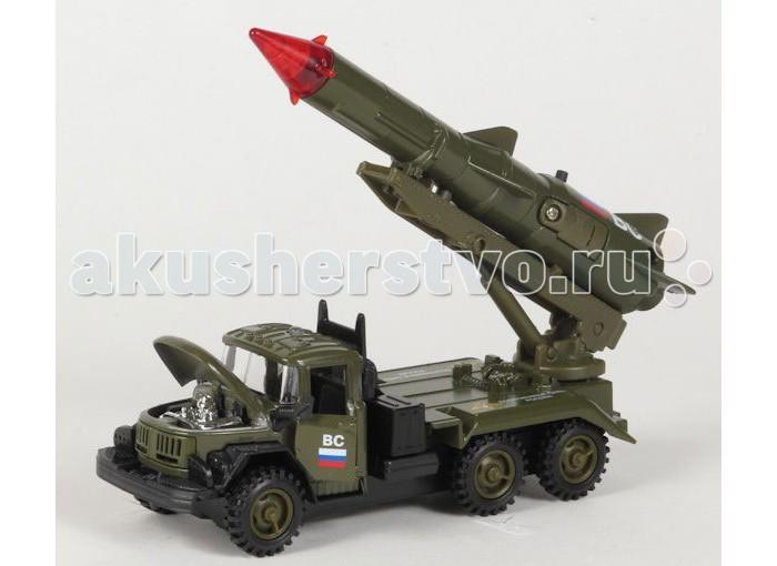 Машины Технопарк Машина Зил 131 с ракетой Вооруженные силы