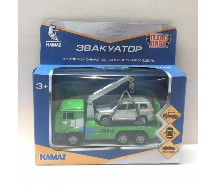 Технопарк Машины металлические Камаз эвакуатор и Toyota Land Cruiser