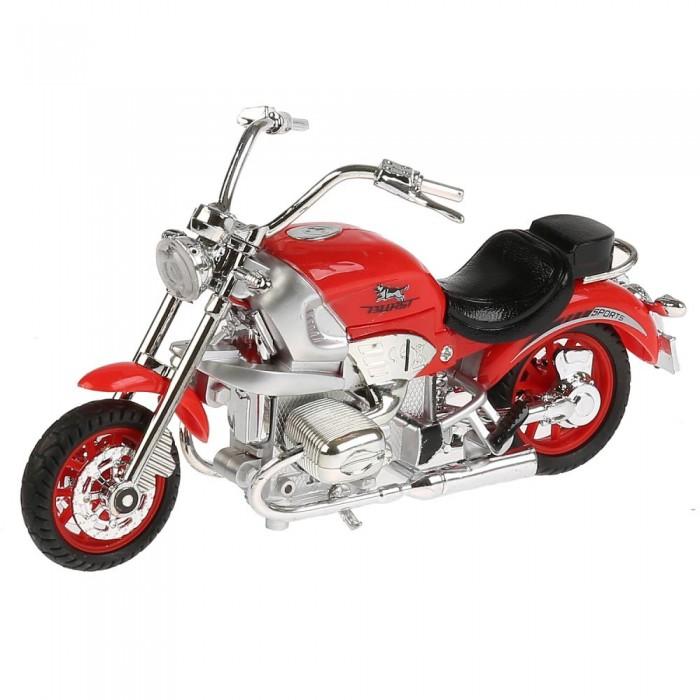 Купить Машины, Технопарк Металлический мотоцикл Чоппер 17 см