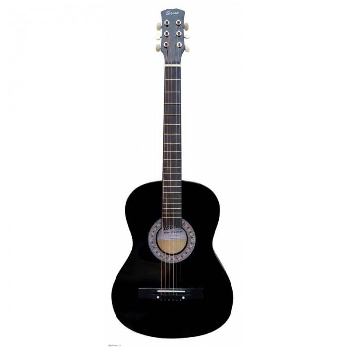 Фото - Музыкальные инструменты Terris Акустическая Гитара TF-3802A BK акустическая гитара yamaha fs820 turquoise
