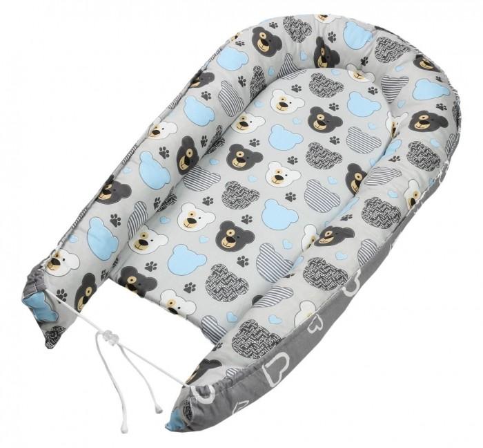 Позиционеры для сна Texxet Гнездышко кокон для новорожденных Мишки Сердечки