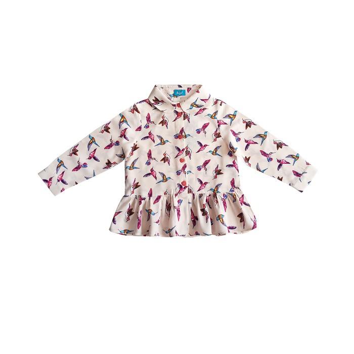 Блузки The hip! Блузка-туника с птицами